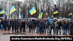 Митинг в поддержку единства Украины в Луганске, 13 апреля 2014