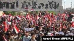 تظاهرة لانصار التيار الصدري في بغداد