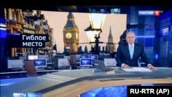 Пропагандист Дмитрий Киселев в телеэфире