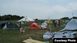 Один из лагерей волонтеров в Крымске