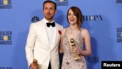 اما استون و ریان گاسلینگ برندگان جایزه بازیگری برای «لالا لند»