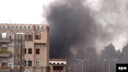 The U.S. Embassy in Sanaa was targeted in a bomb and rocket attack that killed more than a dozen people in September 2008.