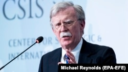 Former U.S. national-security adviser John Bolton delivers a speech at the Center for Strategic and International Studies in Washington in September.