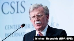 U.S. -- Former U.S. National Security Advisor John Bolton delivers the keynote address of the 'JoongAng Ilbo-CSIS Forum 2019', at the Center for Strategic and International Studies (CSIS) in Washington, September 30, 2019