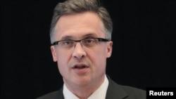 Андрей Савиных, представитель министерства иностранных дел Беларуси. Минск, 23 марта 2012 года.