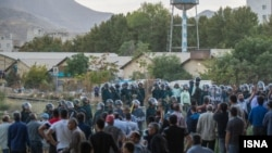 Security forces confront protesting workers at HEPCO industrial complex in Arak, Iran. September 16, 2019