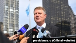 Klaus Iohannis la New York