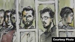 Иллюстрация с суда по Нардаранскому делу