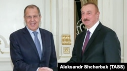 Ադրբեջանի նախագահ Իլհամ Ալիև և Ռուսաստանի ԱԳ նախարար Սերգեյ Լավրով, արխիվ