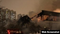 Over 200 firefighters worked to put out the blaze.