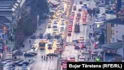 Trafiku rrugor në Prishtinë