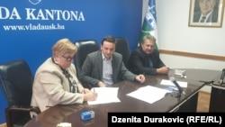 Predstavnici Vlade USK i sindikata potpisuju dogovor o prekidu štrajka, Bihać