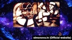 Кадр выступления Ксении Симоновой на America's Got Talent