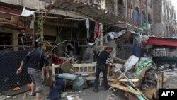 Pamje nga një sulm i mëparshëm në lagjen Baja të Bagdadit