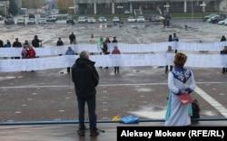 Митинг в Горно-Алтайске с требованием захоронить пазырыкскую мумию не был многолюдным