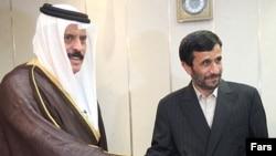 عبد الرحمن العطیه برای دیدار با رییس جمهوری ایران به خرم آباد سفر کرده بود. (عکس از فارس)