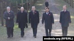 Польская ўрадавая дэлегацыя ў Курапатах