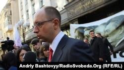 Один из лидеров украинской оппозиции Арсений Яценюк