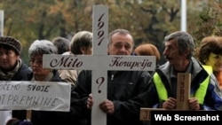 Sa jednog od prosvjeda bivših radnika KIO Keramike u Zagrebu, 2011., foto: pixell