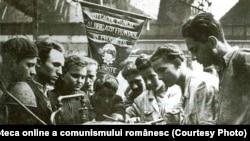 Brigadă UTM fruntașă în producție (1950). Fototeca online a comunismului românesc, cota 180/195