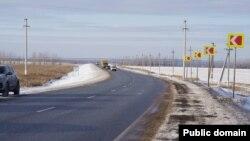 175-й километр федеральной трассы Казань-Оренбург, где произошла авария год назад