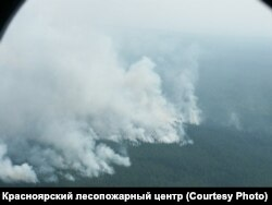 Лесной пожар. Фото: Красноярский лесопожарный центр