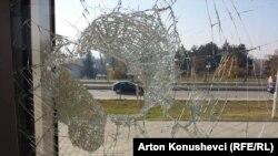 Dëmet e protestës në MTI