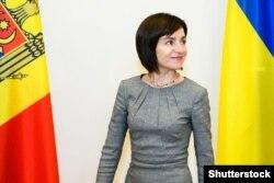 Мая Санду під час візиту до України у 11 липні 2019 року – тоді ще як прем'єр-міністерка Молдови