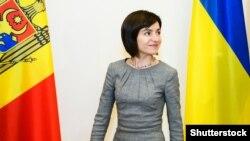 Maia Sandu, în vizită la Kiev, pe când deținea funcția de prim-minsitru, 11 iulie 2019