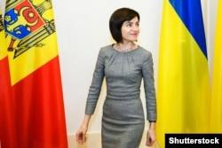 Мая Санду, тодішній прем'єр-міністро Молдови, під час візиту до України. Київ, 11 липня 2019 року
