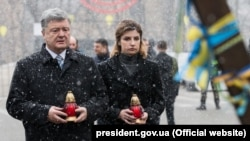 Участь президента в церемонії вшанування пам'яті Героїв Небесної сотні, 21 листопада 2017 року