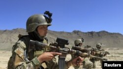 Pjesëtarë të forcave speciale afgane gjatë një stërvitjeje në Kabul