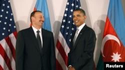 ABŞ- Amerika prezidenti Barak Obama Azərbaycan prezidenti İlham Əliyevlə görüşür. Nyu-York, BMT-nin Baş Assambleyası çərçivəsində görüş. 24 sentyabr 2010