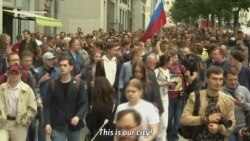 Moscow Protesters Support Opposition Candidates