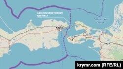 Крым на карте OSM, ноябрь 2018 года