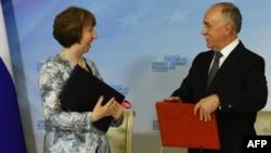 Директор ФСКН Виктор Иванов и верховный представитель ЕС по внешней политике Кэтрин Эштон.