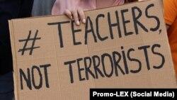 La protestul profesorilor de la liceul moldo-turc Orizont