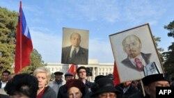 Bişkekdə kommunistlərin aksiyası - 2013