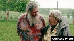 Марина Салье с отцом Георгием, 2002