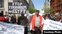 جانب من مسيرة المصريين الإحتجاجية في واشنطن