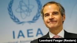 The head of the International Atomic Energy Agency, Rafael Grossi (file photo)