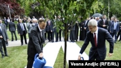 Predsednici Srbije i Azerbejdžana na otvaranju Tašmajdanskog parka, Beograd, 2011.