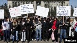 Так протестовали студенты в Красноярске против проекта нового закона об образовании, 2011 год