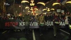 У Сербії пройшов антиурядовий марш – відео