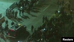 Беспорядки в Фергюсоне, США. 25 ноября 2014 года.