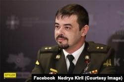 Кирило Недря на прес-конференції, консультант фільму «Кіборги»