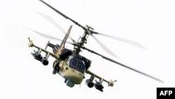 Российский разведывательно-ударный вертолет Ка-52 «Аллигатор».