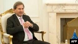 Eврокомесарот за соседство и преговори за проширување Јоханес Хан
