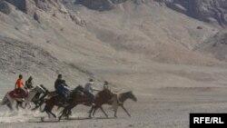 Мургабдык кыргыздар чынында эле ат оюндарына чаңкап калышыптыр