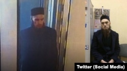 Ilyas Nikitin as shown in leaked CCTV footage (left) and after voluntarily going to the police.
